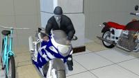 男子戴神秘人脸面具偷摩托 低调偷完高调飙车