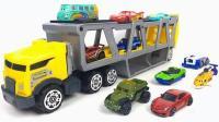 汽车玩具模型找到闪电麦昆一起比赛