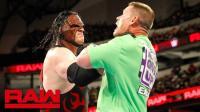 【RAW 03/19】约翰-塞纳约战送葬者 凯恩现身锁喉抛摔帮兄弟作回应