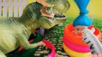 被困的朵拉公主 恐龙霸王龙救援故事