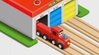 托马斯小火车轨道 超级飞侠3警车泰路小巴士
