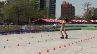 高中女子组第一名蘇柔蓉-2018台湾自由式轮滑锦标赛花式绕桩