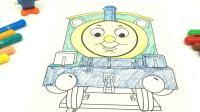 史努比给托马斯小火车涂颜色