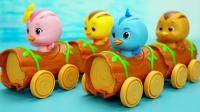 萌鸡小队趣味玩具 一按就会跑起来的丛林小卡车