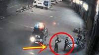 警察感觉不对劲, 刚从警车上下来查看情况, 可怕一幕发生了!