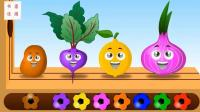 足球敲击玩具色彩蔬菜色彩英语儿童英语ABC少儿英语ABC