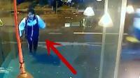 女吃货过马路去商店买吃的, 监控却拍下让老板崩溃的一幕!