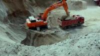 斗山420挖掘机, 最喜欢干这种活, 每次都挖满斗, 还带尖