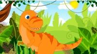 侏罗纪总动员2期 魔法森林世界 宝宝跟随小恐龙戴诺学习形状 颜色