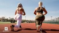 瑞典健身模特的户外HIIT训练|安娜&卡罗琳