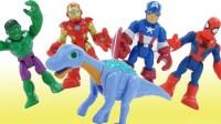 恐龙魔幻车神玩具 绿巨人 钢铁侠 美国队长玩具短片惊喜玩具视频 ★垣垣玩具★