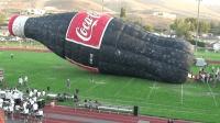 世界上最大的一瓶可乐, 竖起来足有30米高!