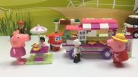 小伙伴野外郊游拼装乐高积木快餐车玩具 680
