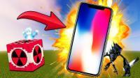 我的世界 超级核弹TNT VS iPhone X 土豪炸手机任性 奈克洛兹玛受得了吗?精灵宝可梦爆炸
