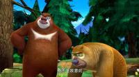 熊熊乐园: 熊二突然冲出来抢走了剪纸, 光头强欲哭无泪啊