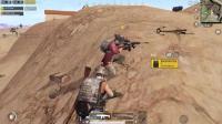 刺激战场: 沙漠图2倍镜98K远距离一枪爆头击杀!
