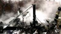 现场:俄一直升机坠毁致6人遇难