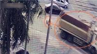 监拍女子遭货车碾压身亡肇事者不觉径直离去