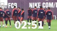 【黑豹足球】巴塞罗那备战联赛! 皮克若有所思, 梅西苏牙脸色阴沉! 队友苦等3分钟!