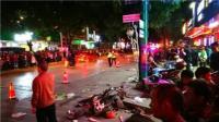 广西河池轿车连撞十车致8伤 司机涉毒驾