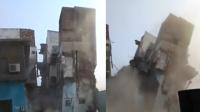 印度上千只老鼠将3层楼房钻塌 场面震撼