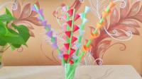 简单的立体折纸花, 放在家里当装饰太漂亮了, 新手小白也能学会