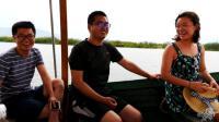 88集: 与几个老婆的印度人一起坐船, 在非洲的河流上看河马、大象