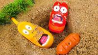 玩具动画 爆笑虫子 LARVA玩具 小企鹅波鲁鲁 娃娃冰淇淋店玩具 【 俊和他的玩具们 】