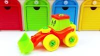 儿童玩具挖掘机拆装 亲子益智玩具车