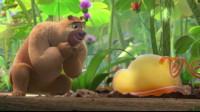 熊二新朋友毛毛虫 熊出没之变形记 住 探险日记 小伶玩具