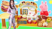 小猪佩奇奥特曼汉堡店工程车糖果玩具 小伶玩具