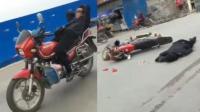 男子花式骑摩托吸睛 不料下一秒意外悲剧