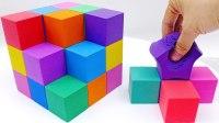 太空沙 手工DIY 彩虹立方体动力沙蛋糕米奇工具 天使沙 儿童玩具 【 俊和他的玩具们 】