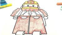 星际宝贝史迪奇画消防员罗伊涂色画