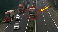 高速路上大货车突然失控, 司机急中生智想出这招!