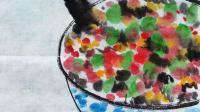 儿童水墨画: 一碗饭