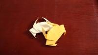 横行霸道小螃蟹折纸, 做法非常简单, 幼儿园小朋友都可以学会