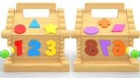 小猪佩奇最爱的数字形状敲击玩具玩具英语儿童英语小学英语ABC