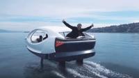 把出租车开上湖面, 悬浮于水面近1米, 像在水上飞行