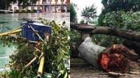 柳州暴风过境犹如世界末日