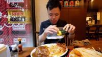 日本大胃王吃播新井熊挑战吃超大盘炸肉饼烤鸡排盖浇饭, 美味啊