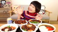 日本吃播大胃王俄罗斯佐藤吃: 各种肉汁盖饭