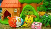 小猪佩奇萌鸡小队和阿拉伯神灯的儿童玩具故事