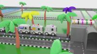 亮亮玩具学习颜色, 汽车动画学英语, 婴幼儿宝宝教育游戏视频919
