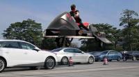 中国首辆飞行摩托来了, 低空飞行10公里, 还要啥汽车!