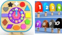 玩具学习形状时间玩具英语形状英语时间英语儿童英语ABC小学英语ABC