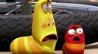 爆笑虫子: 小黄小红好不容易摆脱自行车, 又遇到小鸡, 好惨!