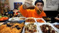 【吃播剪说话X3倍速】韩国大胃王奔驰小哥吃拌面 +烤五花肉