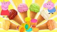 小猪佩奇彩泥冰淇淋 小马宝莉爱探险的朵拉玩具