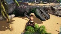 方舟生存进化-带妹子孤岛生存第46天 惊险抓到霸王龙